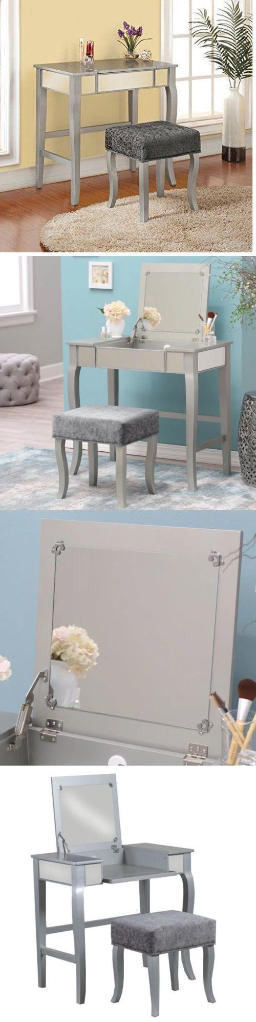 Vanities And Makeup Tables 32878: Vanity Set For Girls And Women Bedroom  Mirror And Bench