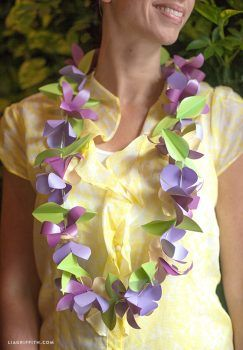 If you're planning to attend a Luau party, you may try this handmade paper lei.