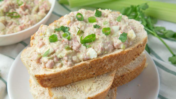Paula Deen S Best Ham Salad Sandwich Recipe In 2019 Ham Salad Recipes Ham Salad Meat Salad