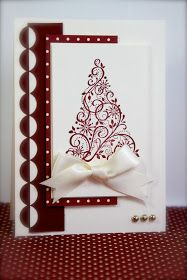 Hello my stamping friends,    I'm sharing some Christmas cards I made with Snow Swirled and Cherry Cobbler which I have been working on. Am ...