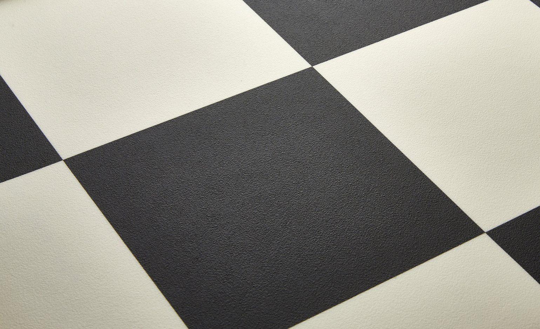 Sol Vinyle Luna Carrelage Damier Noir Et Blanc Rouleau 4 M Saint Maclou Sol Vinyle Vinyle Sol