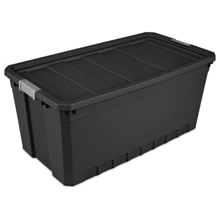 Sterilite 50 Gal189 L Stacker Tote Black Available in Case of 3