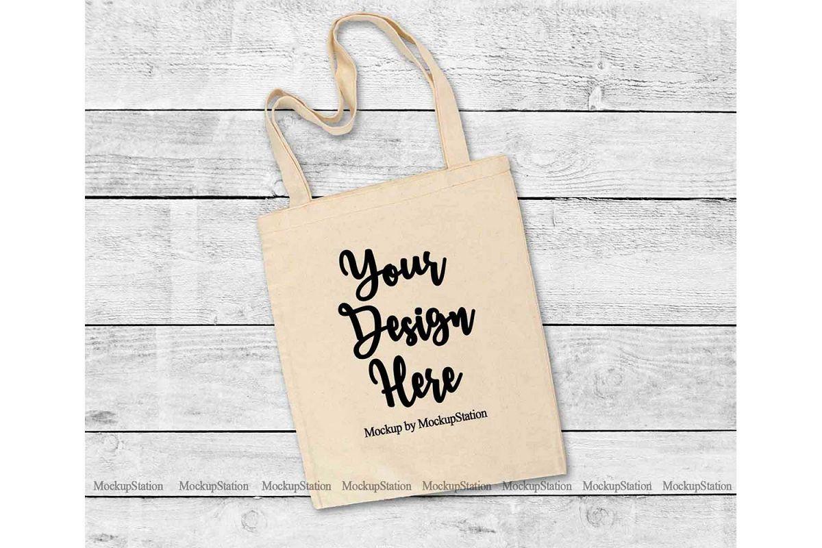 Download Natural Tote Bag Mockup Beige Grocery Bag Flat Lay Mock Up 248104 Clothing Design Bundles Bag Mockup Tote Bag Grocery Bag