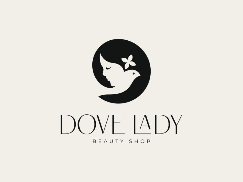 Dove Lady Logo Design Logo Design Inspiration Shop Logo Design