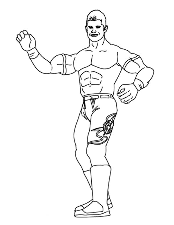 Evan Bourne From World Wrestling Entertainment Coloring Page Color Luna Coloring Pages Evan Bourne Online Coloring