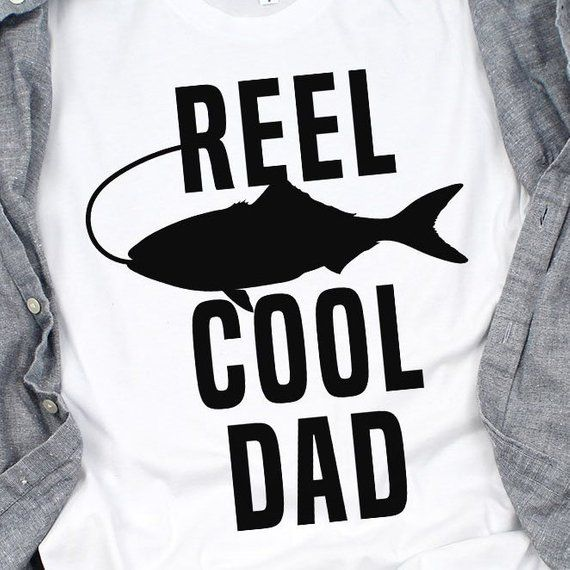 359fa4c7e Reel Cool Dad Shirt - Father's Day Fishing Shirt - Fishing Rod - Fishing  Lure - Best Dad Ever - Fath