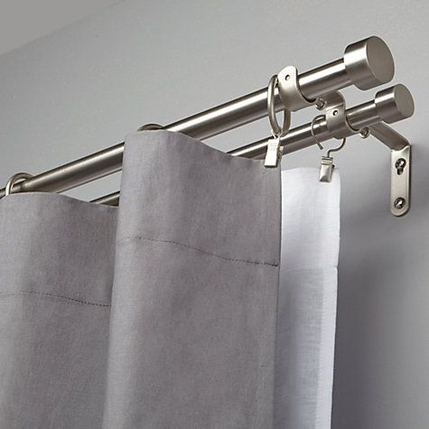 Buy Umbra Adjustable Double Curtain Pole Kit Nickel L183 366cm X