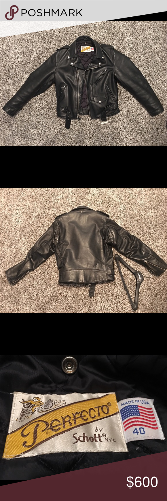 Schott Nyc 618 Steerhide Perfecto Leather Jacket Leather Jacket Jackets How To Wear [ 1740 x 580 Pixel ]