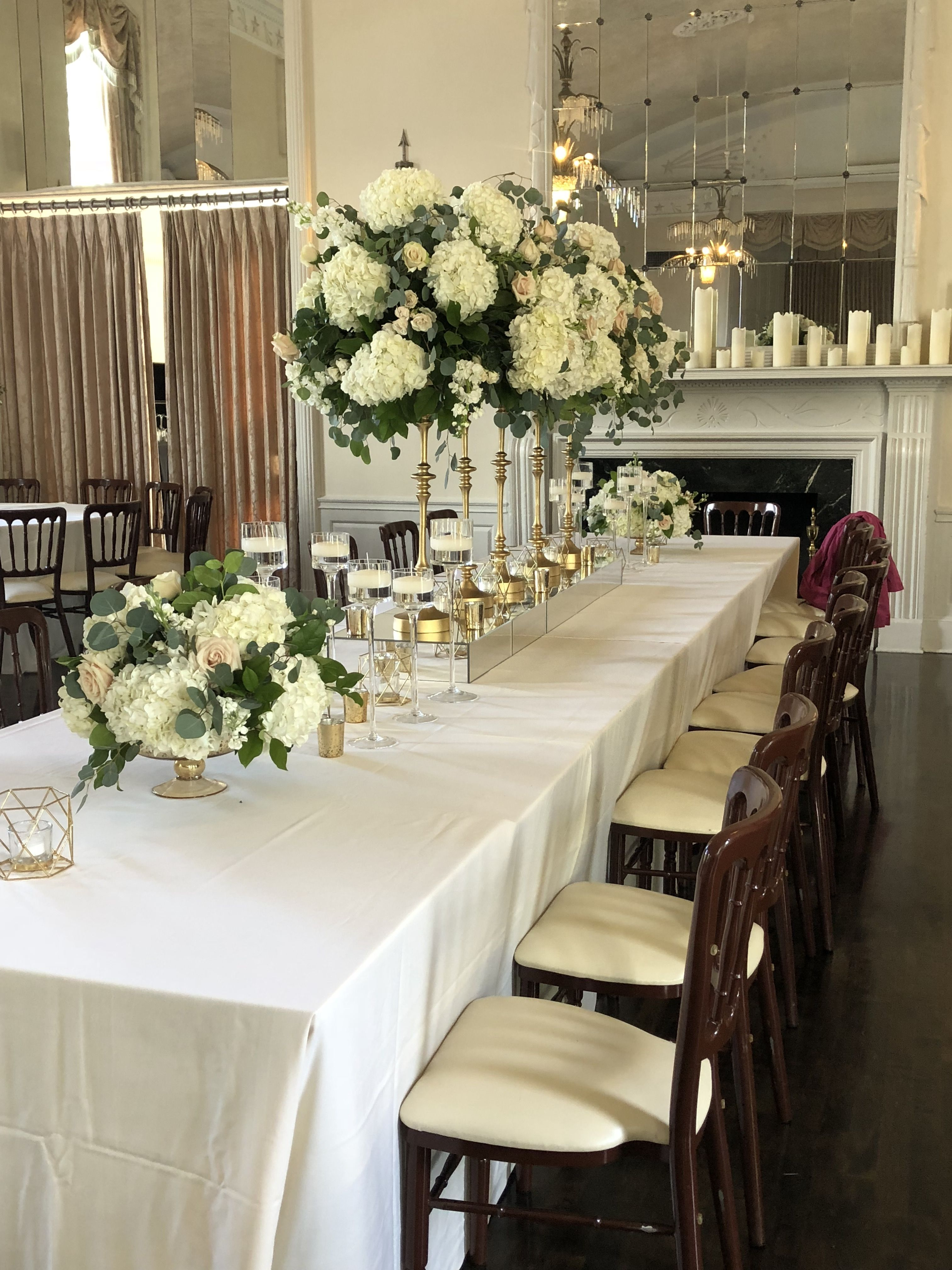 Pin By Candi S Floral Creations On Long Wedding Tables In 2021 Long Table Wedding Rectangle Wedding Tables Table Decorations