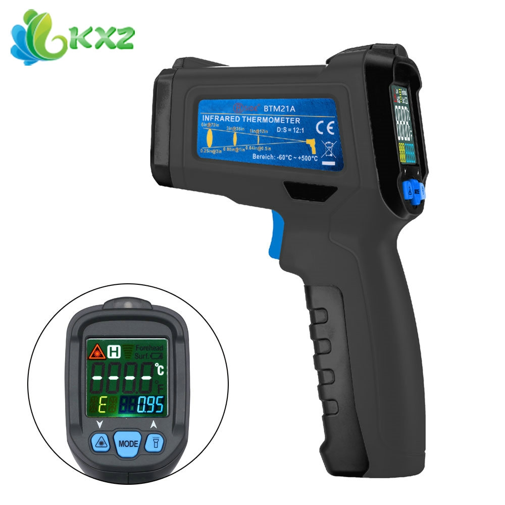29.19$  Buy here  - BSIDE BTM21C Non-contact Infrared Thermometer Color Liquid Crystal Display Digital K Type Thermometer