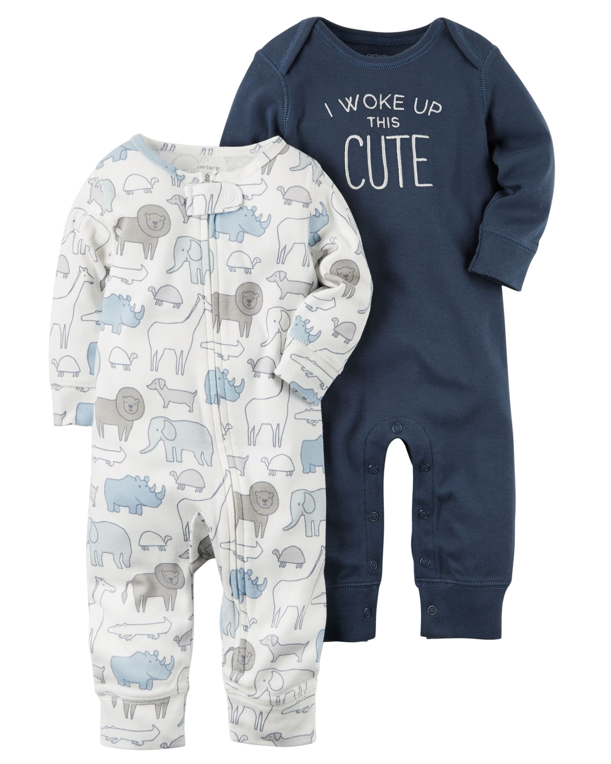 2 Pack Babysoft Coveralls