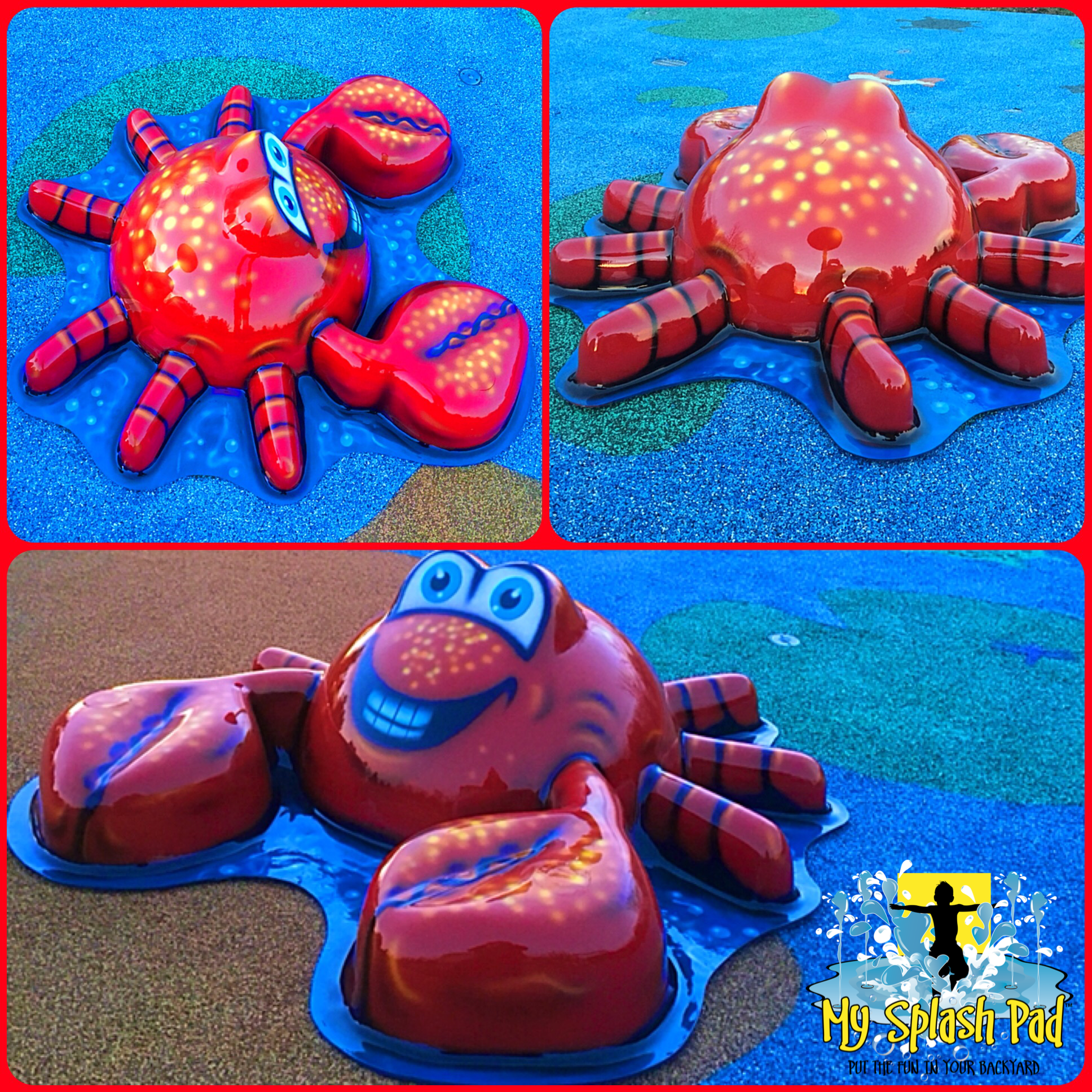 new splash pad feature our new fun crab water play feature for