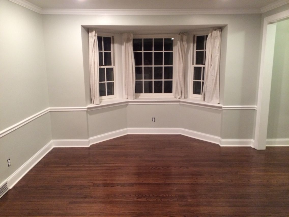 Benjamin moore barren plain with coffee brown floor stain for Benjamin moore floor paint