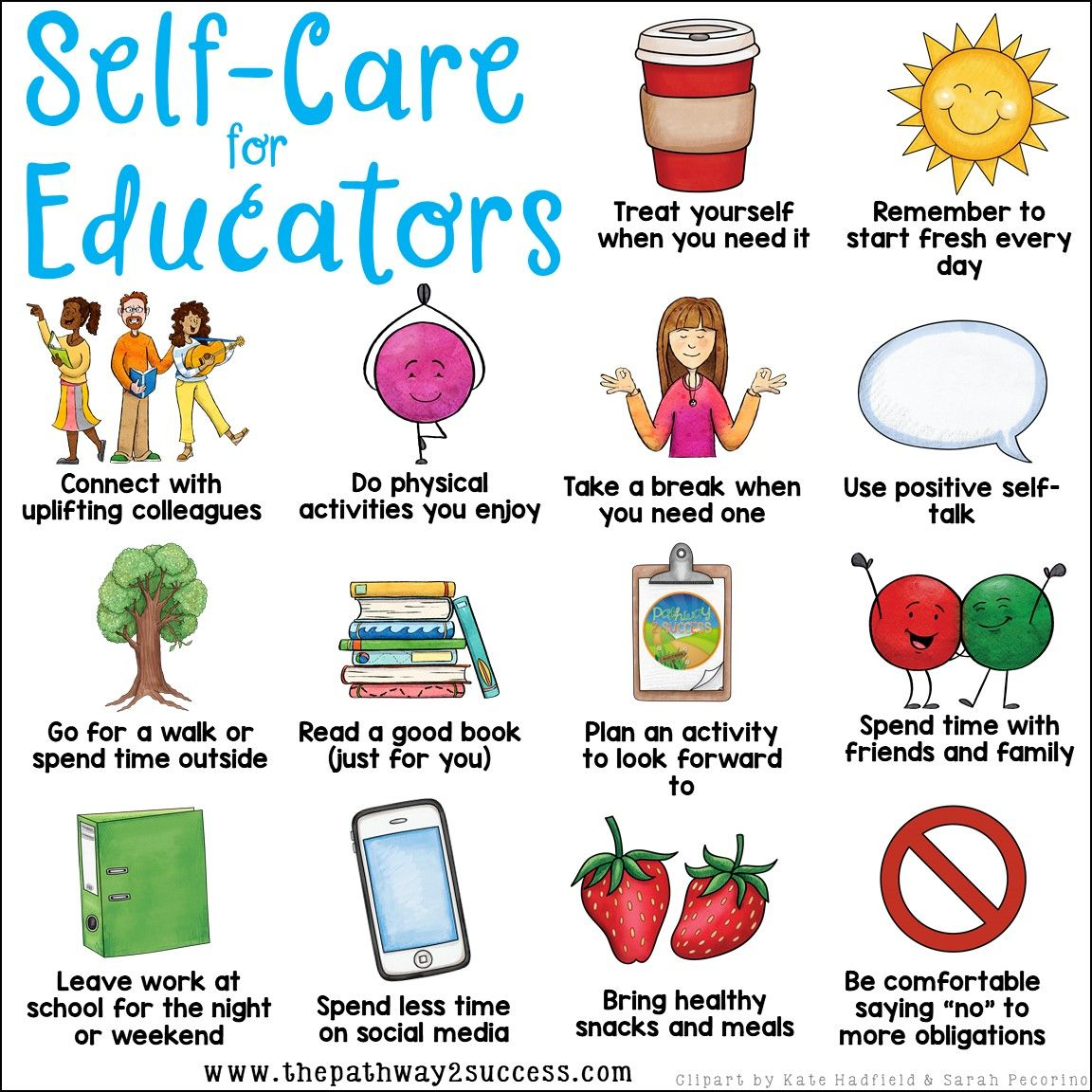 Self Care For Educators Poster