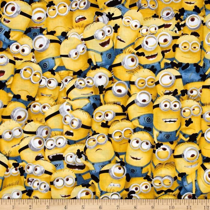 Minions Packed Universal 1 in a Minion Despicable Me Cotton Fabric per fat quarter per metre by LovelyJubblyFabrics on Etsy
