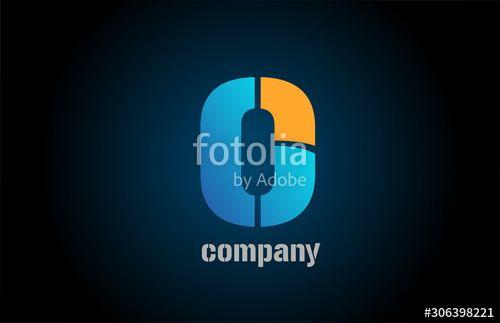 letter o alphabet icon logo shape for business company design