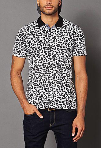 Leopard Print Polo   21 MEN - 2000090981