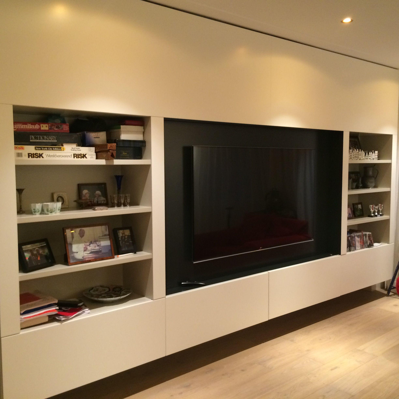 Tv wandmeubel tv kast stereomeubel tvwand tv wandkast for Tv wandkast