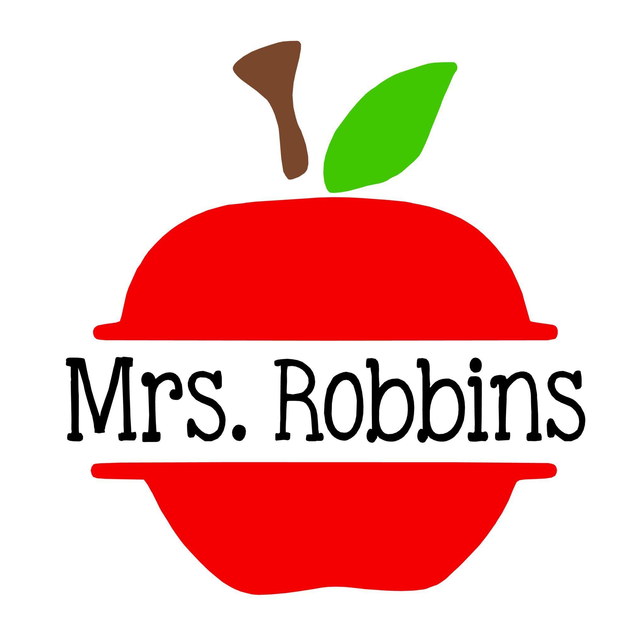 Teacher Apple Name Decal Teacher, Apples and Cricut