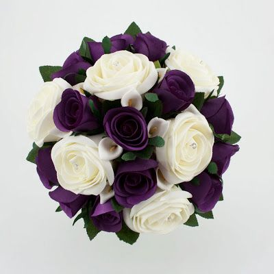 White Purple Wedding Bouquet Purple Wedding Receptions
