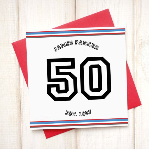 50th Birthday Age Card