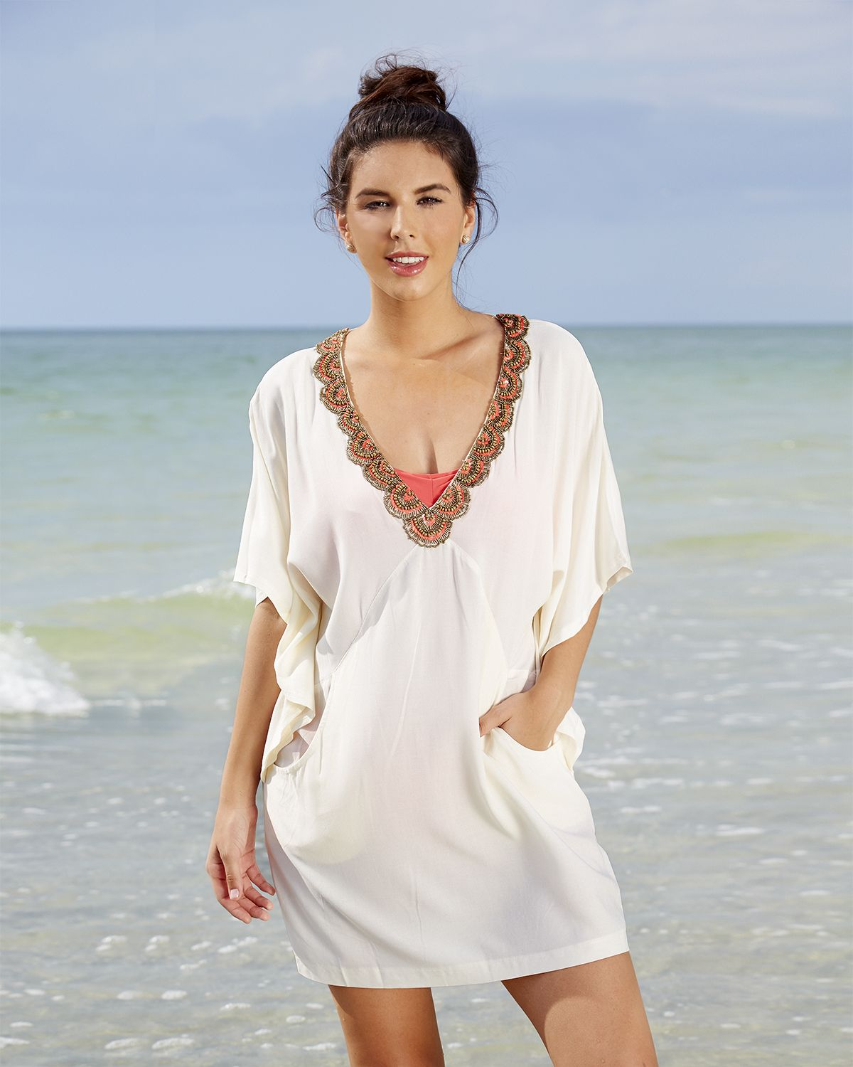 a98906a727 Wearabouts Womens Wow Factor Tunic Beach Swimsuit Cover Up #ForeverFlorida