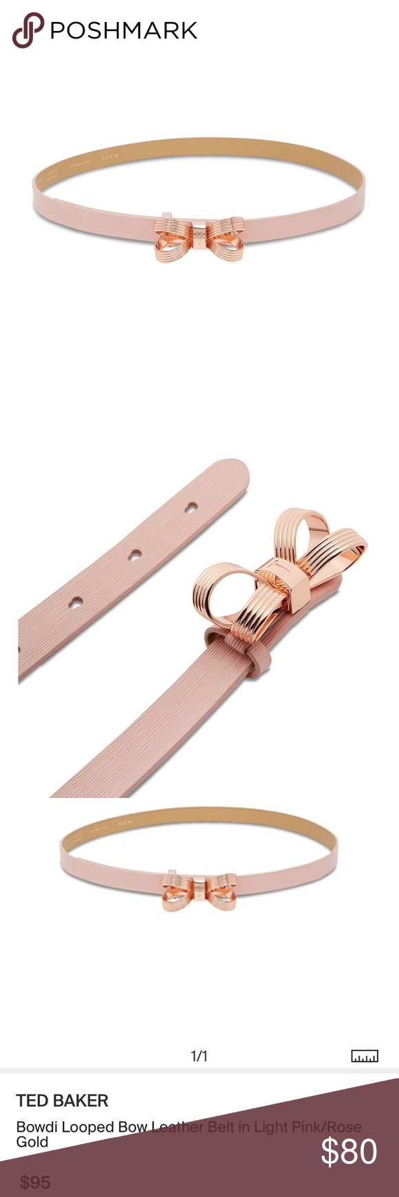 143739c65 Ted Baker Rose Gold Pink Bowdi Bow Belt Leather 🎀 how cute is this belt by