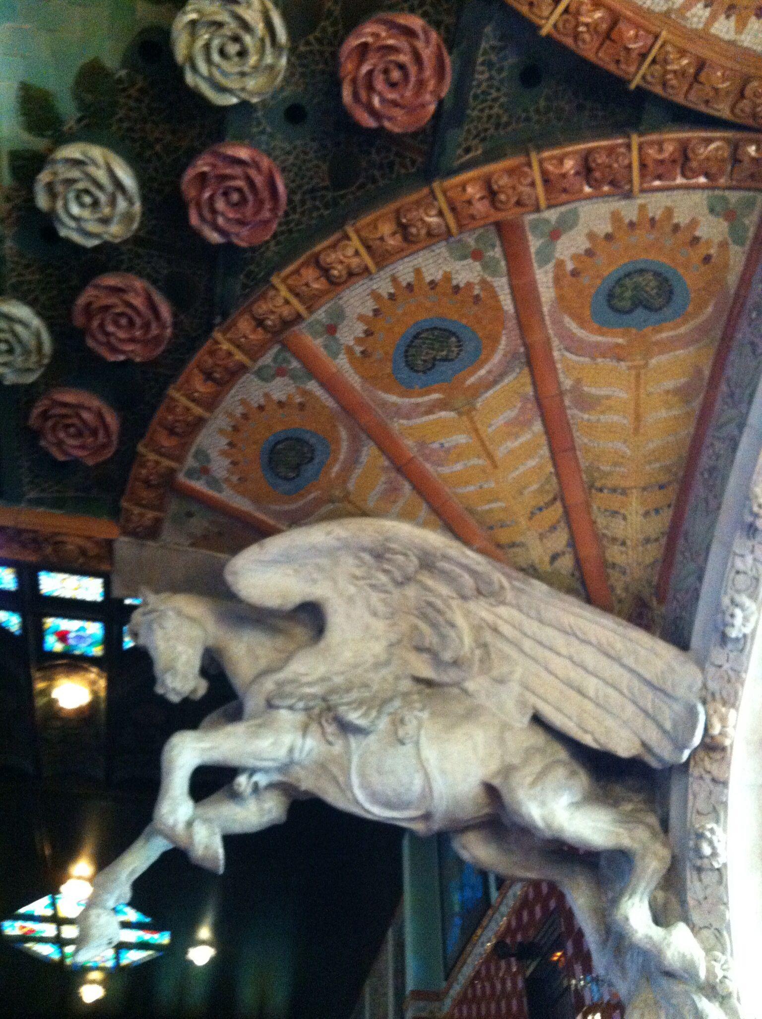 Detalhe dos Pilares do Palácio da Música - Barcelona