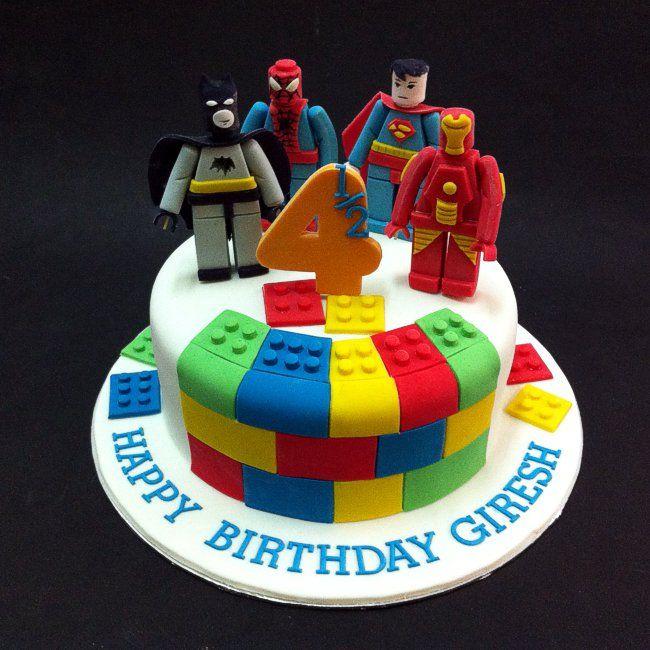 Fondant 3d Lego Marvel Superheros Fondant Cakes Johor Bahru