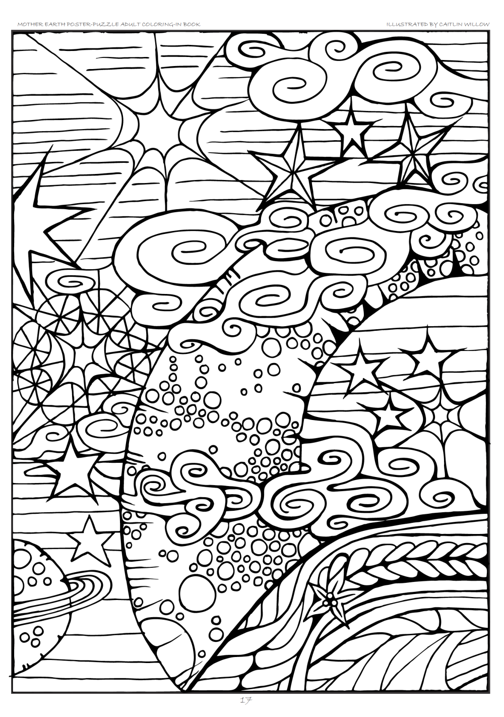 Free Coloring Page from Mother Earth Poster-Puzzle Adult Coloring-In ...