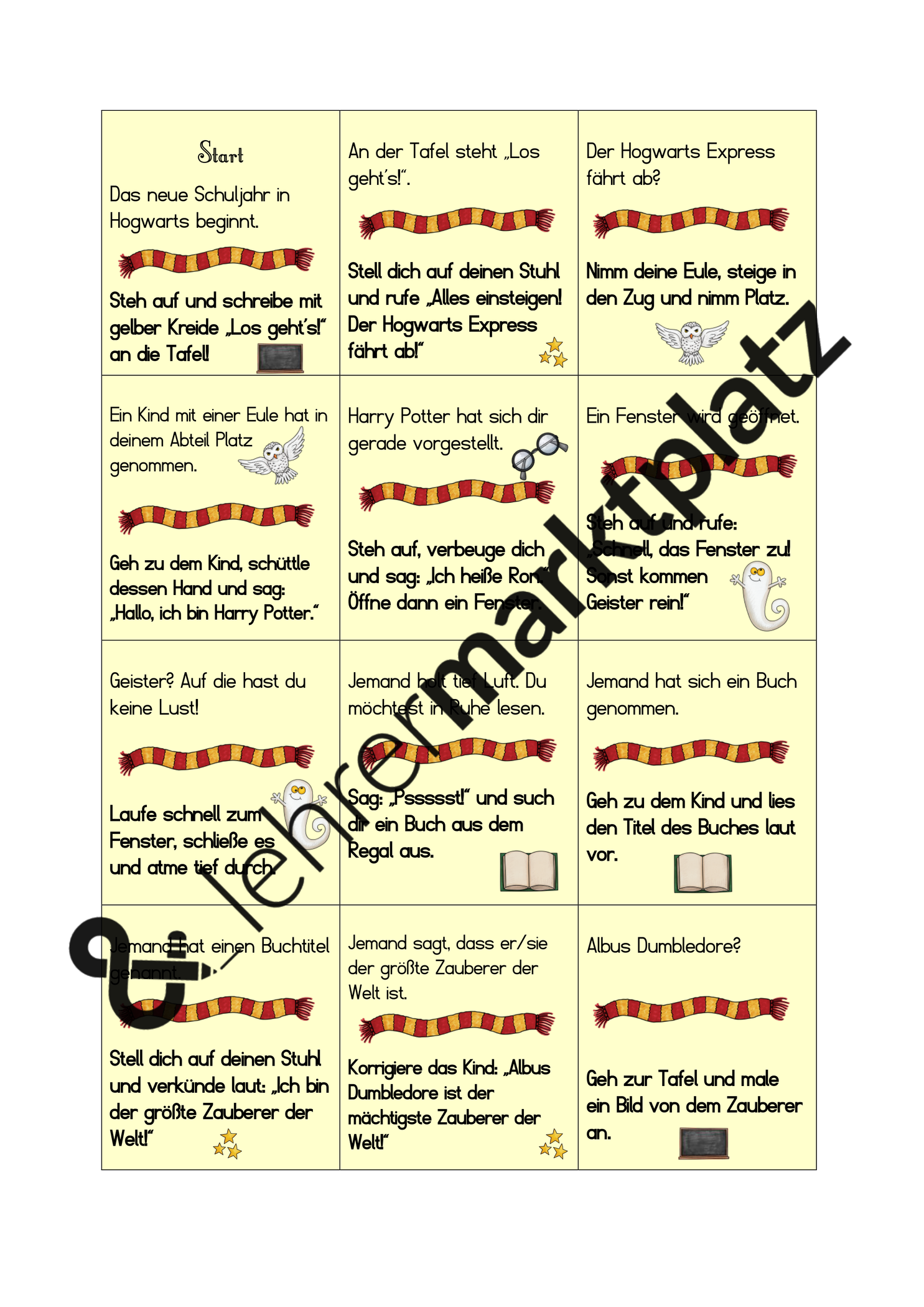 Lesespiel Harry Potter Unterrichtsmaterial Im Fach Deutsch Lesespiele Harry Potter Spiele Harry Potter Klassenzimmer