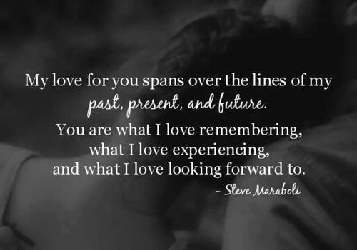My Love For You Spans Over The Lines Of My Past Present And Future Love Quote Past Present Future Love Quote Future Love Quotes Future Love My Love