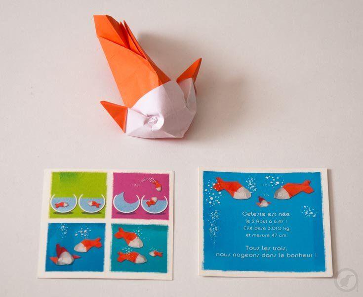 Origami poisson Origami | Graphiste freelance | infographiste 3d en Bretagne
