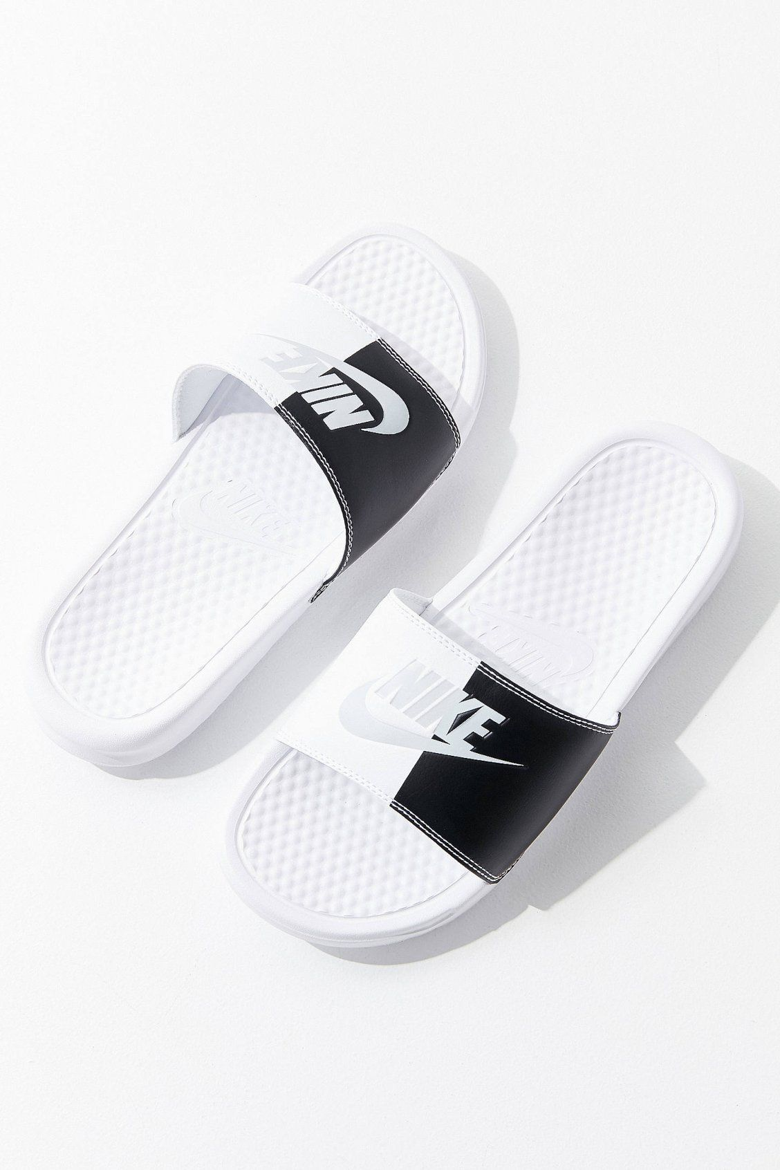 cheap for discount 34386 fc9d0 Nike Benassi JDI Colorblock Slide   Urban Outfitters. Find this Pin and  more on Shoes ...
