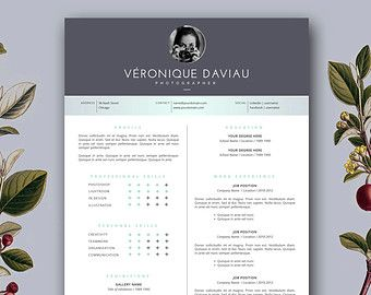 Modern Resume Template  Cover Letter Template For Word And  Cv