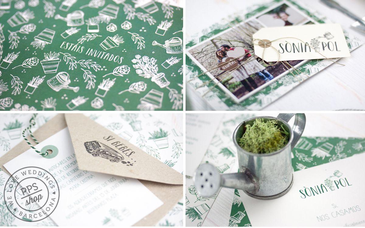 Boda personalizada PPStudio para Sònia & Pol http://www.projectpartystudio.com/bodas-personalizadas-2/sonia-pol.html #boda #invitacion #wedding #stationery #ppstudio #handmade #stamp #sello #garden #jardin