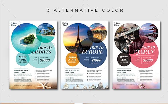 Gorgeous Travel Agency Flyer Templates To Grow Your Travel