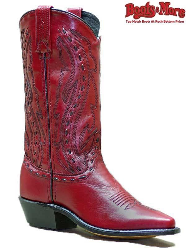 4b836bc797 Abilene Red Western Boots W/ Hand Laced Accents 11 9002 - $107.99  #AbileneBoots #USABOOTS