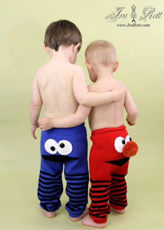 Knitted Monster Pants Pattern Is Super Cute Pants Pattern