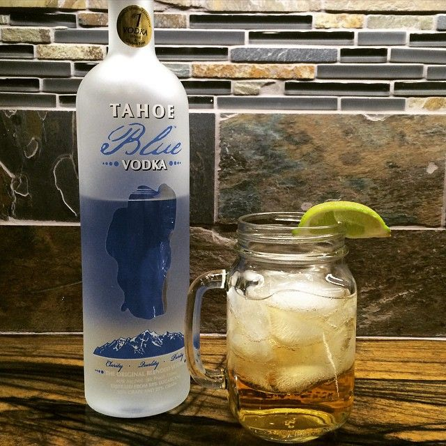 Try this super easy drink with ginger ale, a little bit of lime, and Tahoe Blue Vodka!