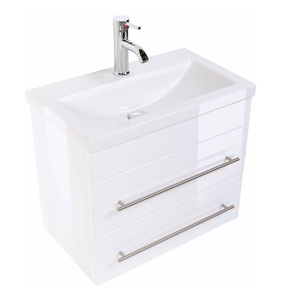 Badmobel Inklusive Aufsatzwaschbecken Passt Auch In Kleines Bad Waschtisch Slimline Mit Besonders Schmaler Tiefe Badmobe Kleine Badezimmer Waschbecken Bad
