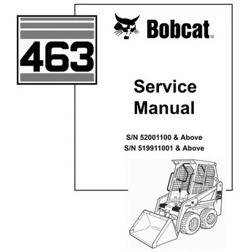 Bobcat 463 Skid Steer Loader Service Manual 6901177 3 06 Skid Steer Loader Relief Valve Service Schedule