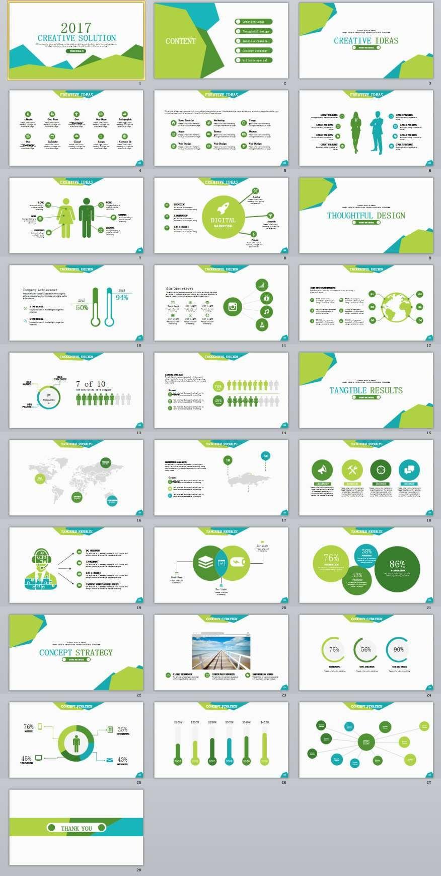 creative ideas powerpoint template | power point | pinterest, Modern powerpoint