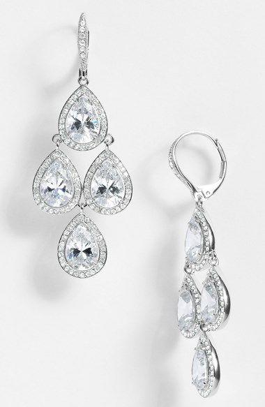 Nadri Cubic Zirconia Chandelier Earrings Nordstrom Exclusive Wedding Earrings Bridal Jewelry Chandelier Earrings