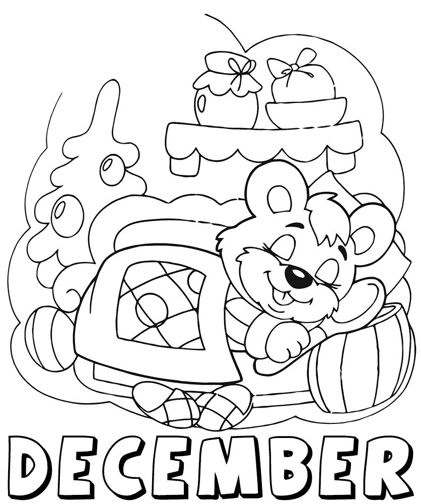 December Coloring Pages Color N Relax Pinterest Winter