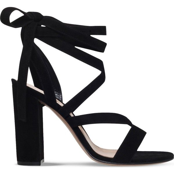 Black GIANVITO ROSSI Netley Mews suede heeled sandals