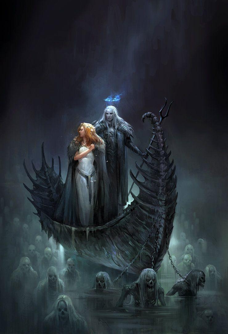 "SANDARA""Hades and Persephone"" | Fantasy- Art in 2019 | Hades"