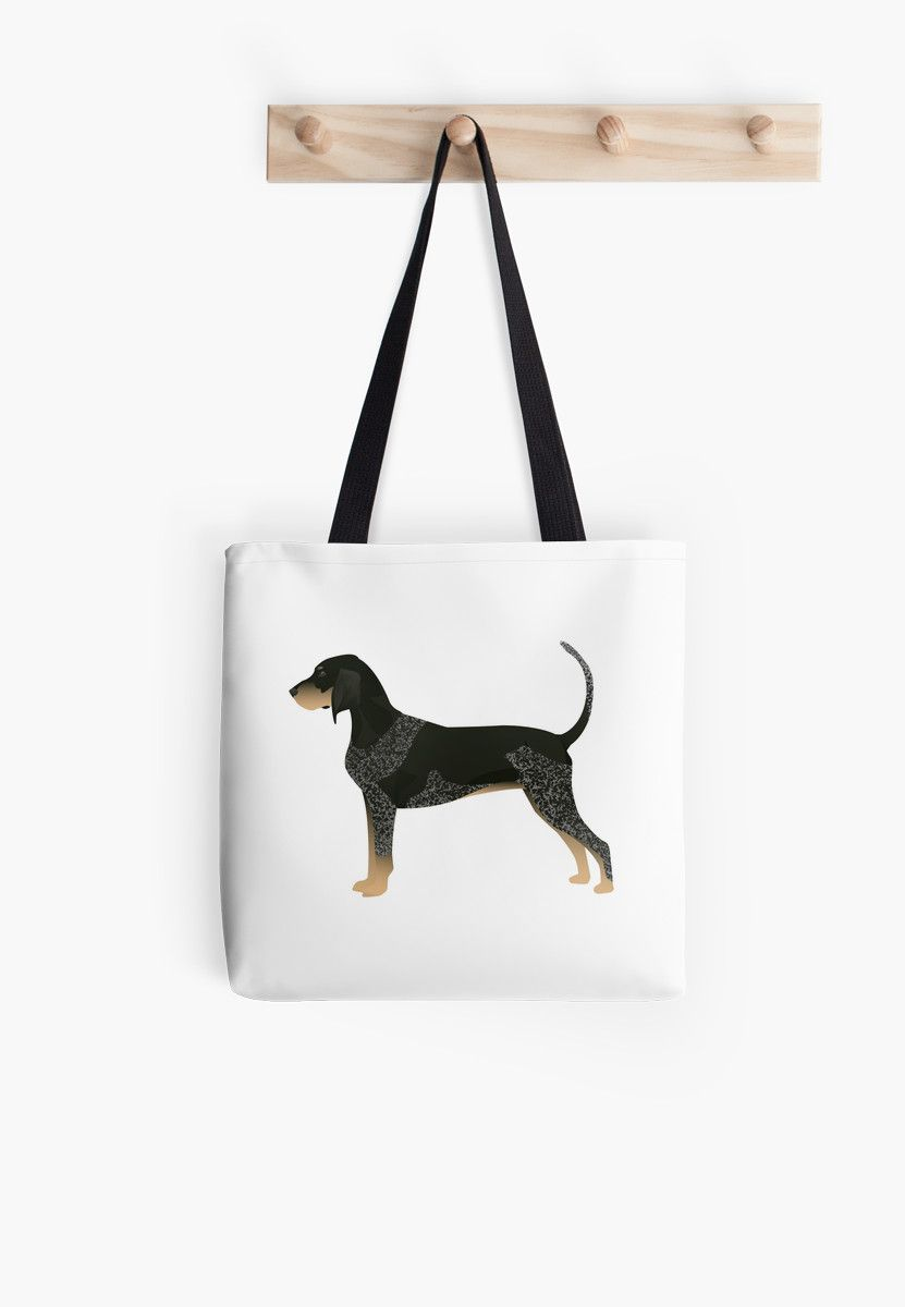 Bluetick Coonhound Basic Breed Silhouette Illustration by TriPodDogDesign