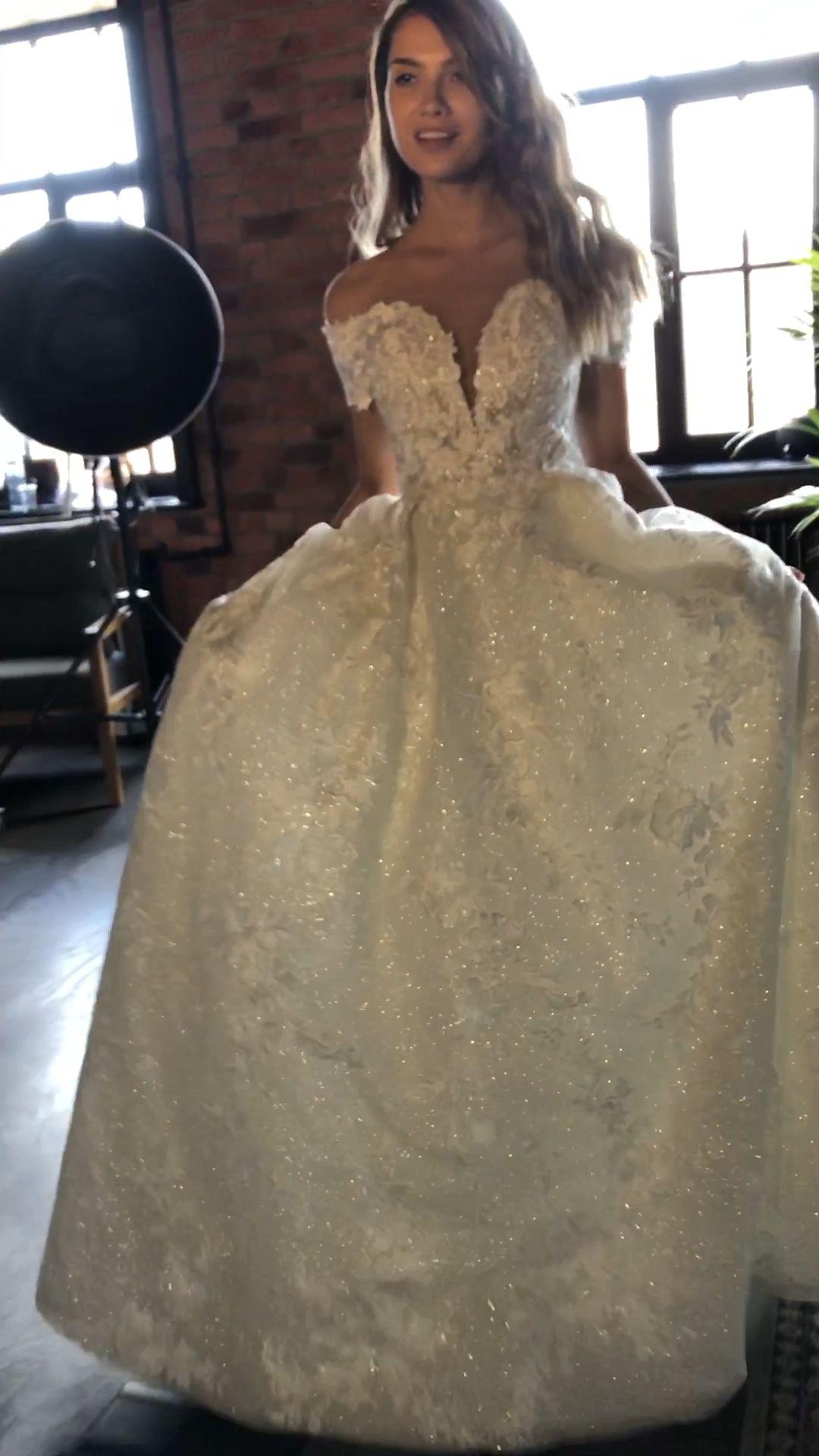 Photo of Luxurious mod wedding ball gown Airis by Olivia Bottega.
