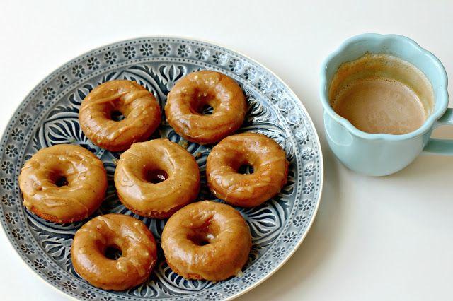 Baked Mini Buttermilk Pumpkin Doughnuts with Brown Butter-Maple Glaze (via @Jennifer Rodda)